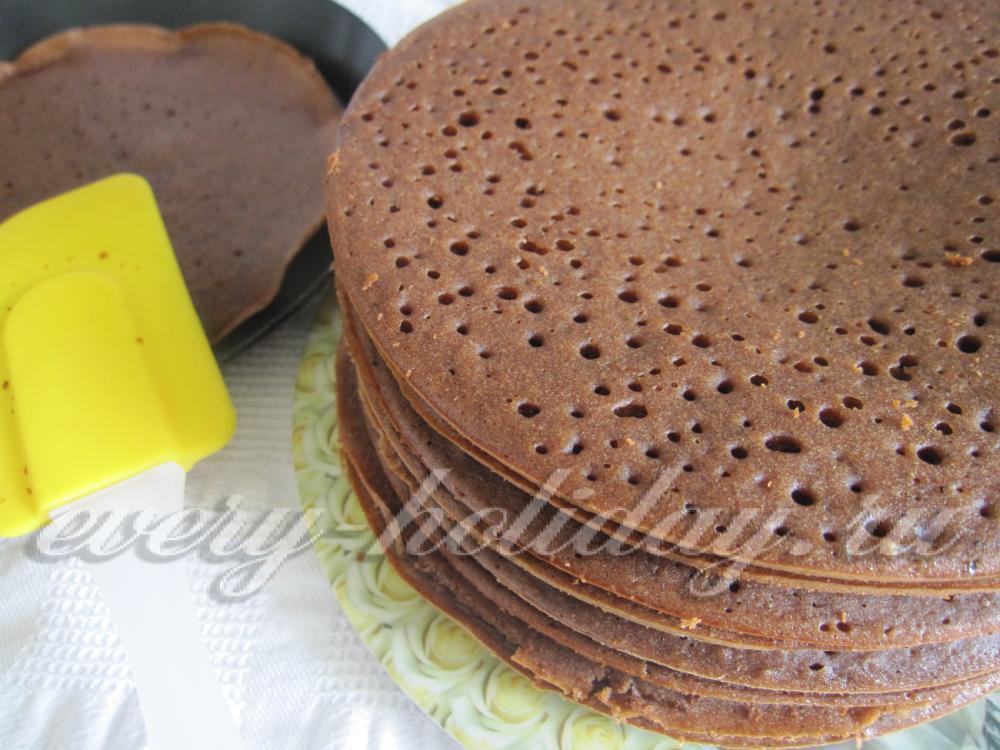 Коржи для торта на сковороде фото