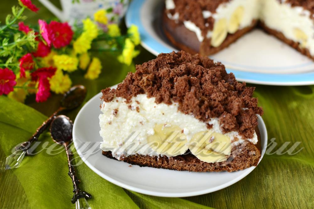 рецепт торта норка крота с бананами с фото пошагово