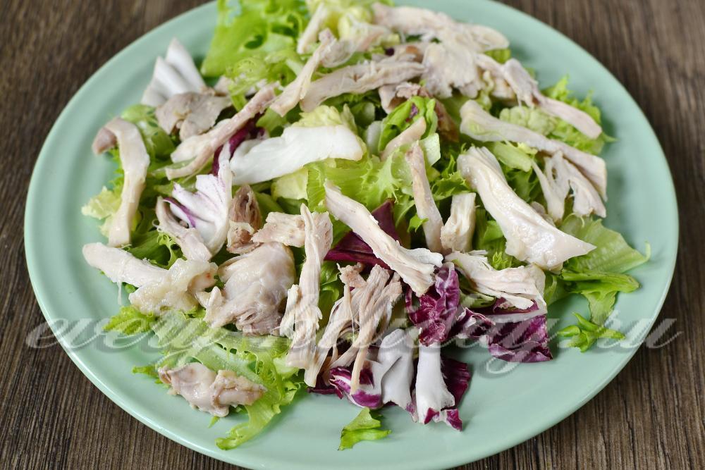Вкусный салат с жареными опятами рецепт с