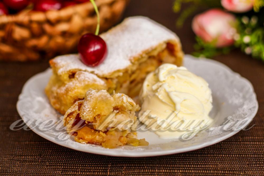 Вкусный яблочный штрудель рецепт с фото