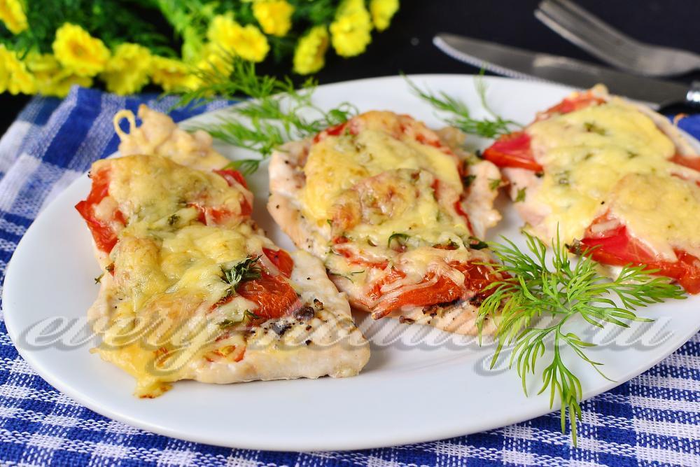 рецепт мяса по-французски с картошкой с помидорами и сыром в духовке