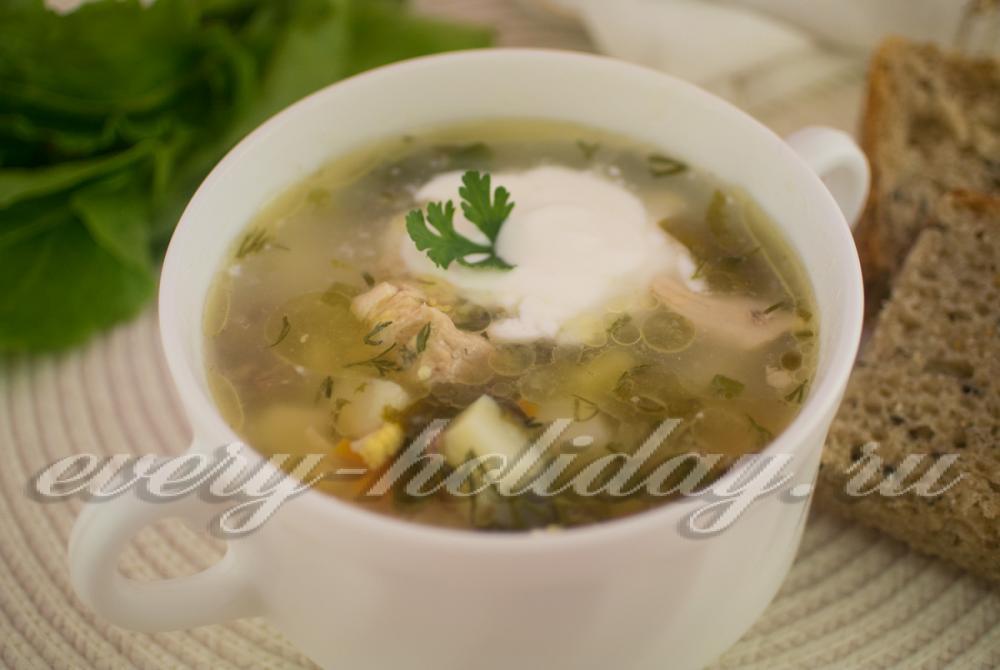 Зелёный борщ со щавелем рецепт пошагово