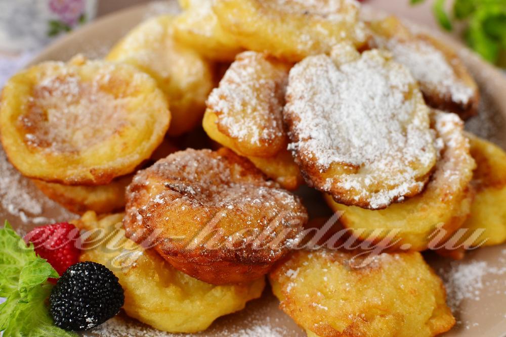 Творожные пончики жареные в масле рецепт с фото пошагово
