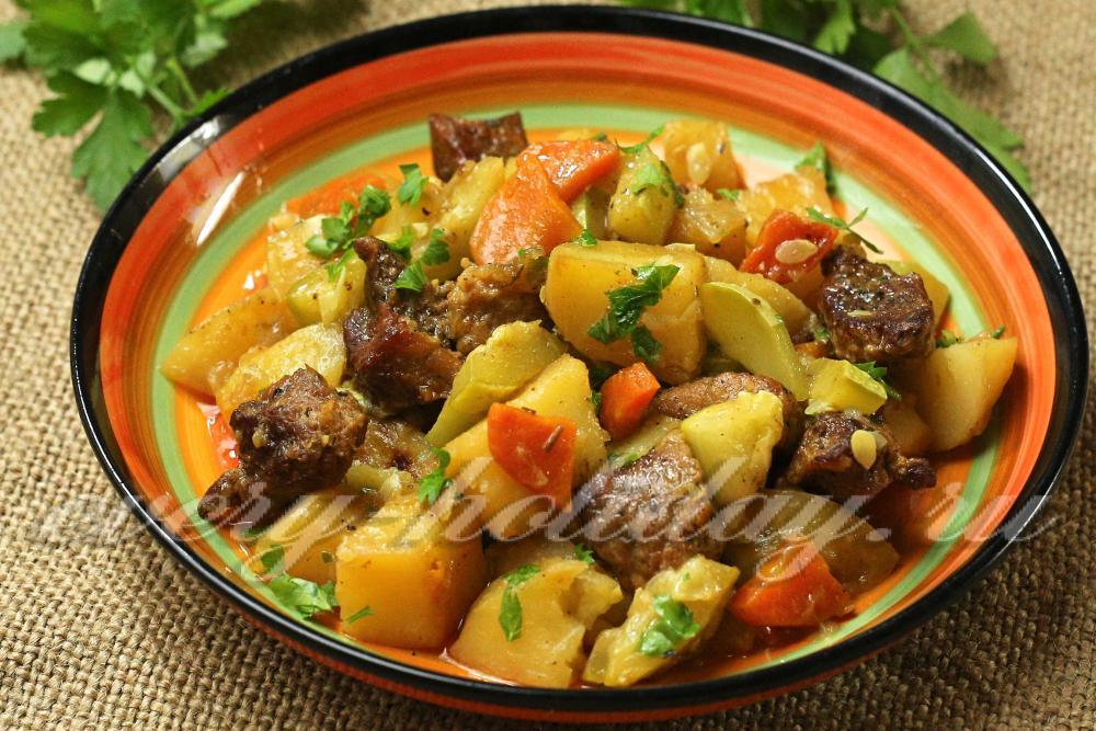 Рагу из кабачков с мясом и картофелем рецепт