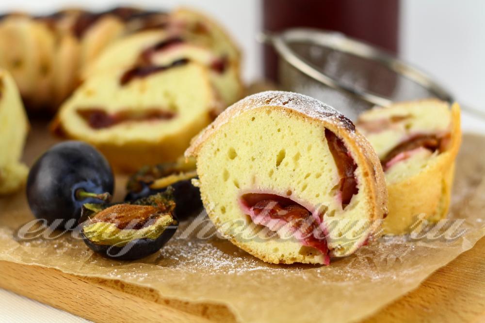 пирог сливовый в духовке рецепт с фото
