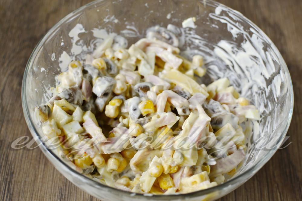 Салаты из ананаса консервированного с
