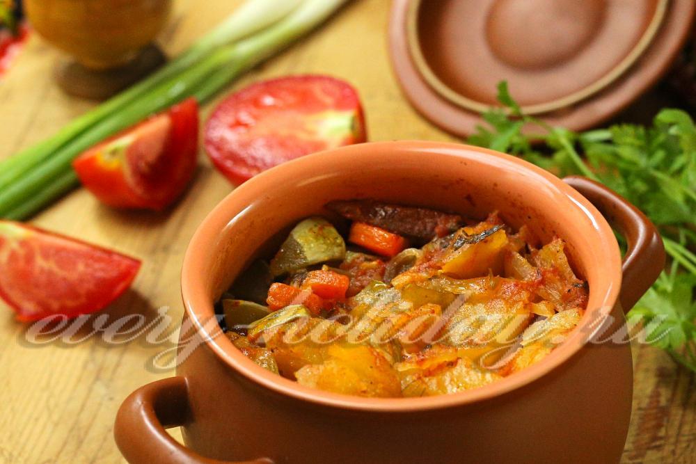филе с овощами с духовке рецепт с фото