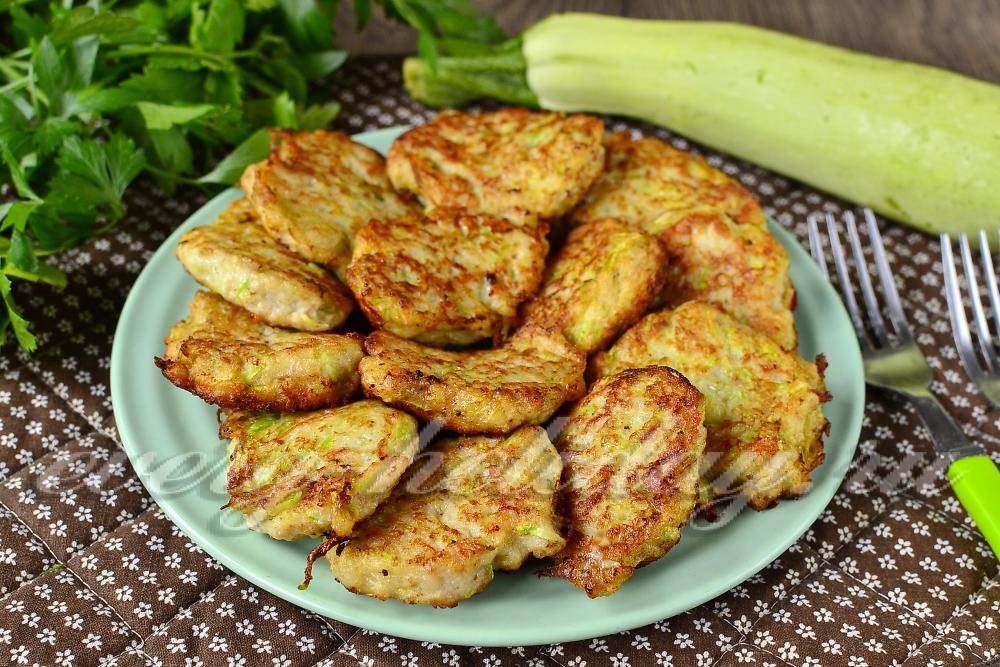 рецепт котлет из кабачков с фото пошагово