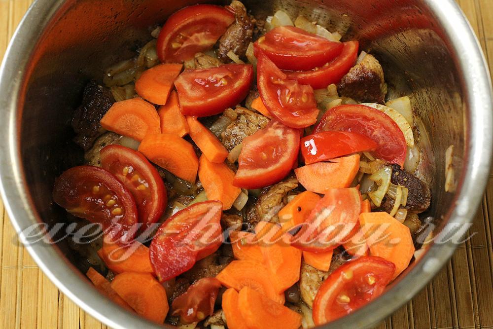 Мясо с баклажанами кабачком и картошкой с фото