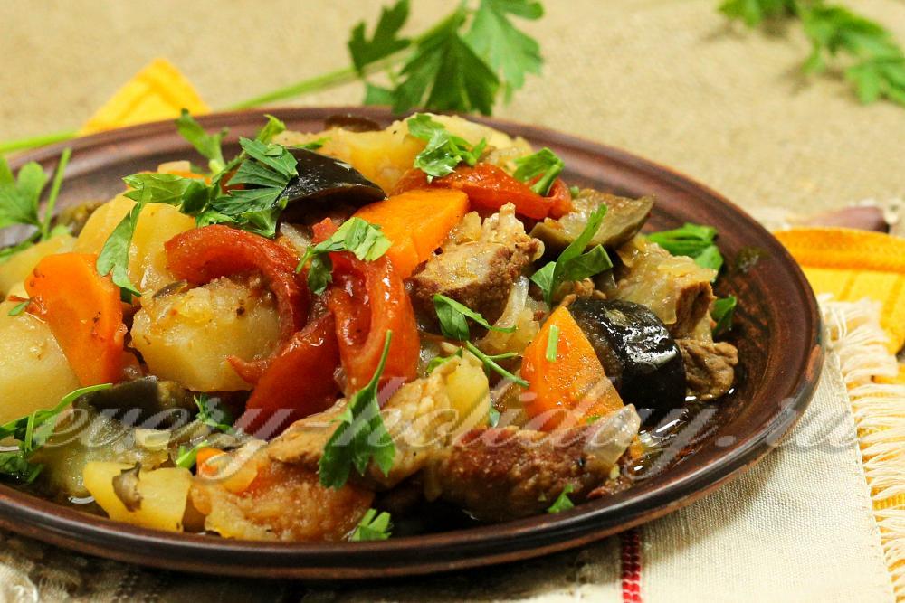 Овощное рагу с мясом говядины рецепт 16