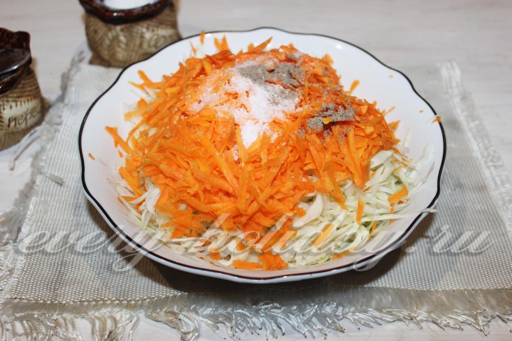 Как сделать салат капуста морковь и перец 890