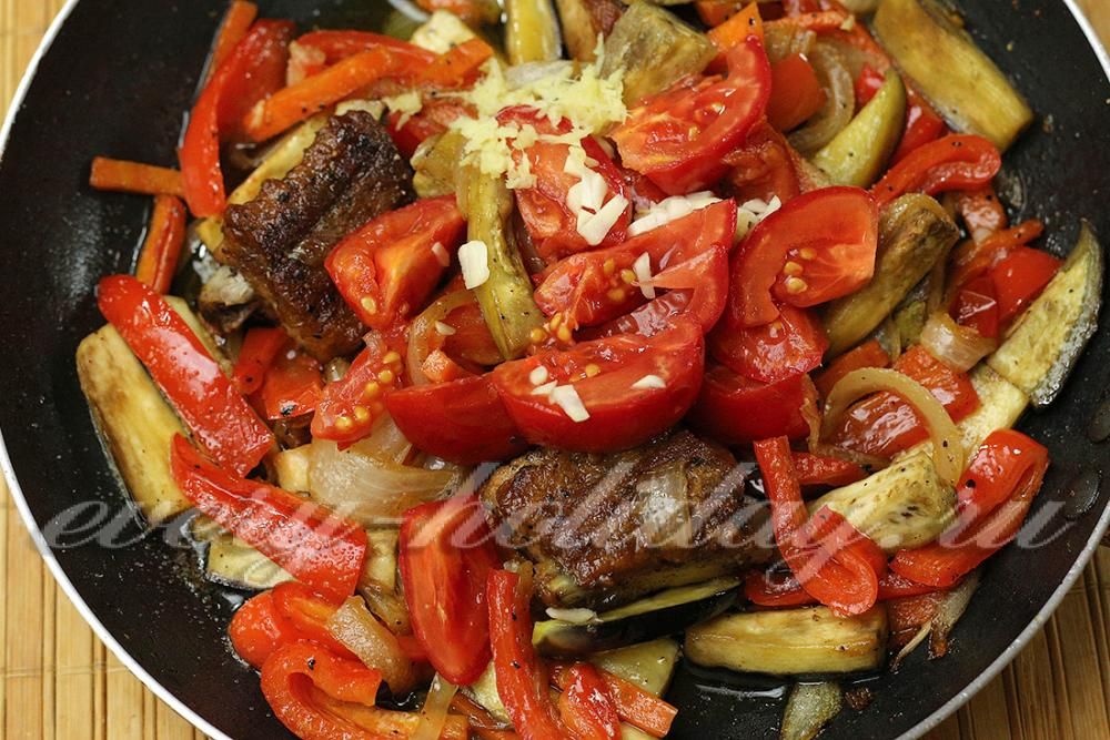 Ребрышки с овощами пошаговый рецепт с