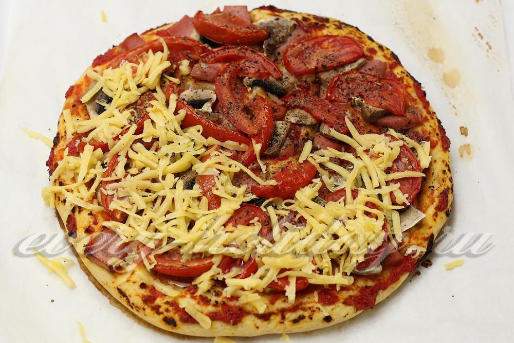 рецепт приготовления пиццы с мясом в духовке