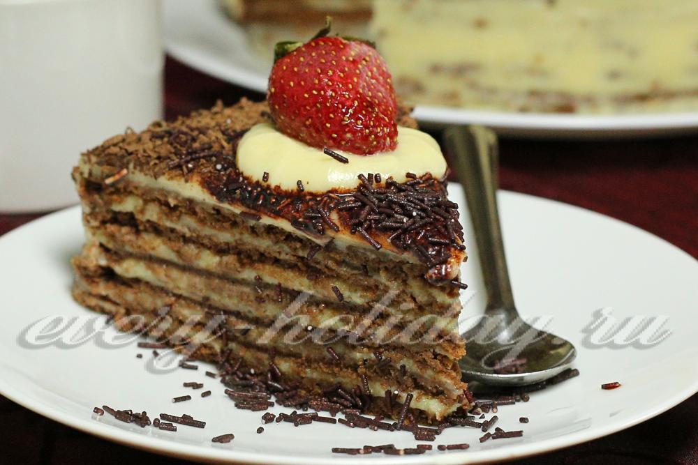 Шоколадный заварной торт рецепт с фото
