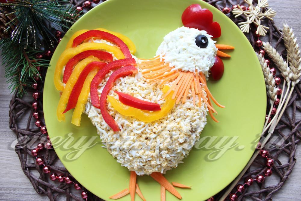 Салат петушок рецепт и