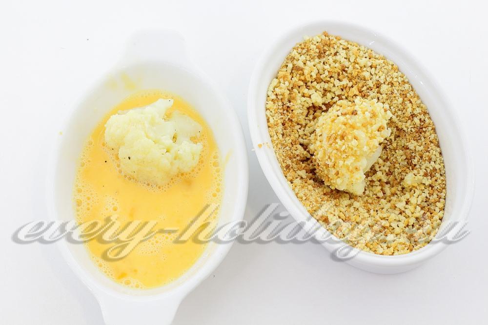 капуста в сухарях пошаговый рецепт с фото
