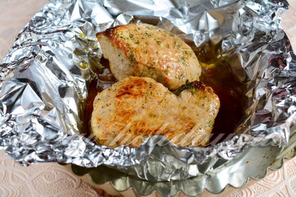 стейк из свинины в духовке рецепт в фольге