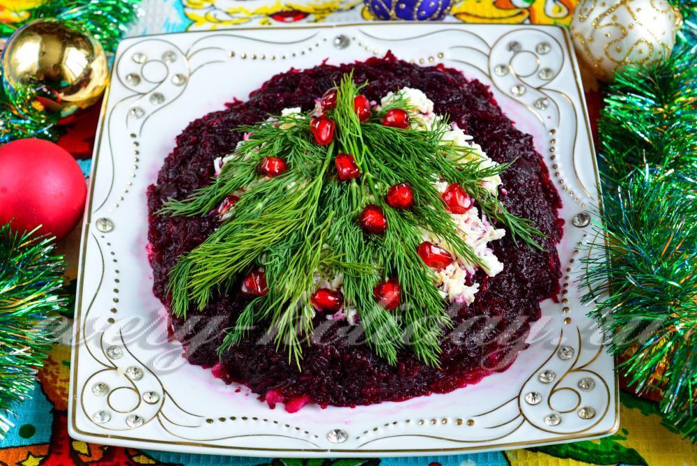 салаты и их украшение с рецептами