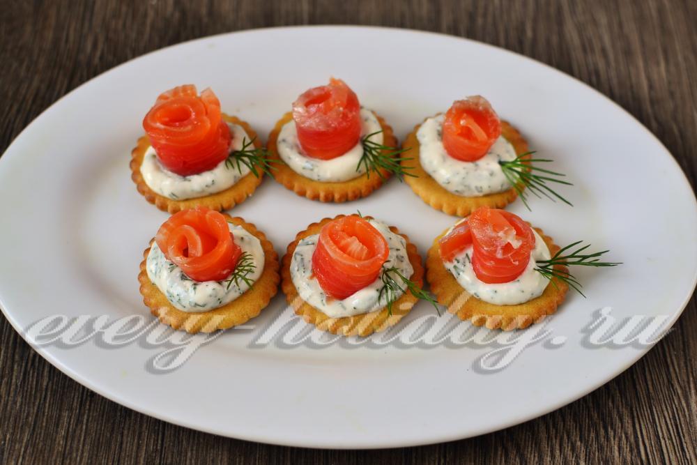 бутерброды на крекерах рецепты с фото