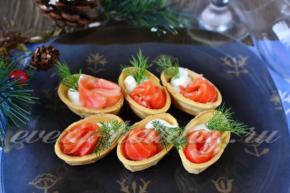 Тарталетки с красной рыбой рецепты с самые вкусные