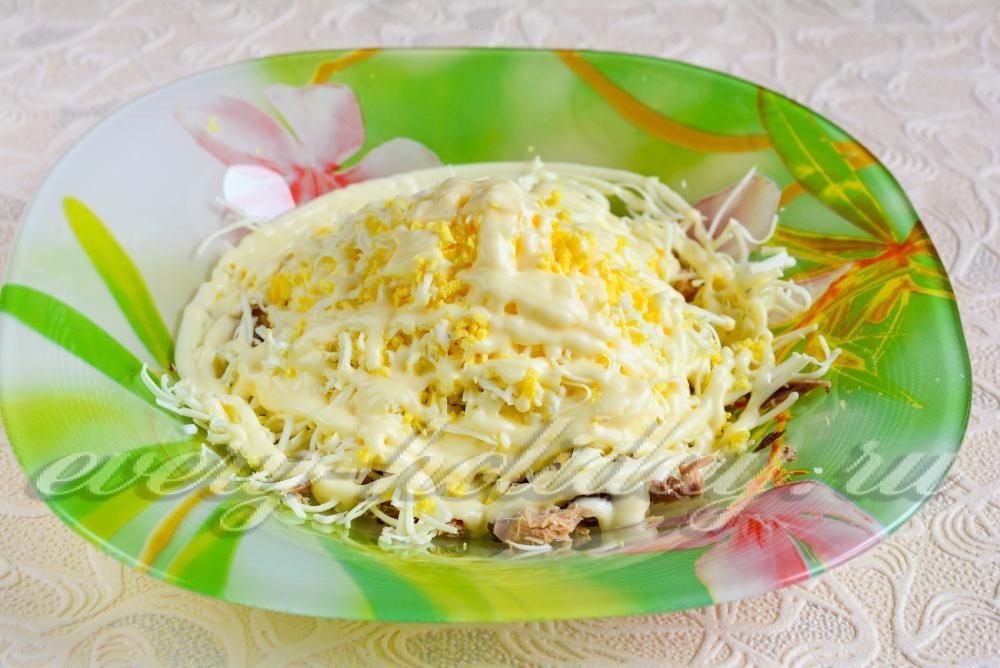 Пошаговое приготовление салата мимоза с фото