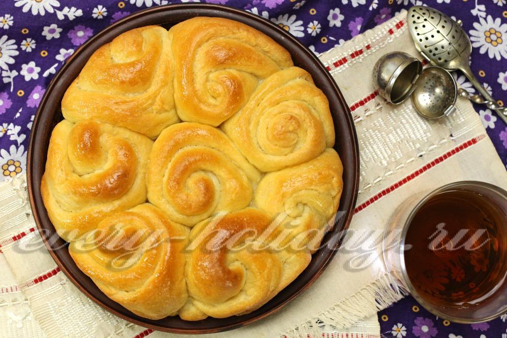 сдобные булочки с сахаром рецепт с фото