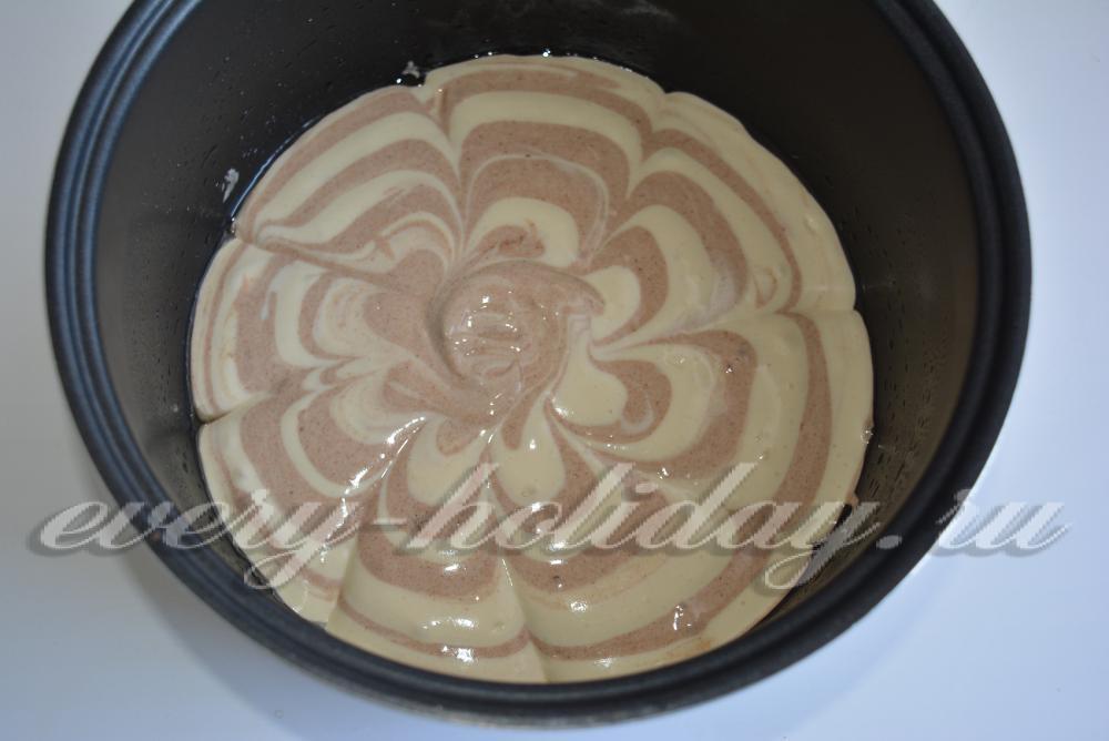 Мраморный бисквит в мультиварке рецепты с фото