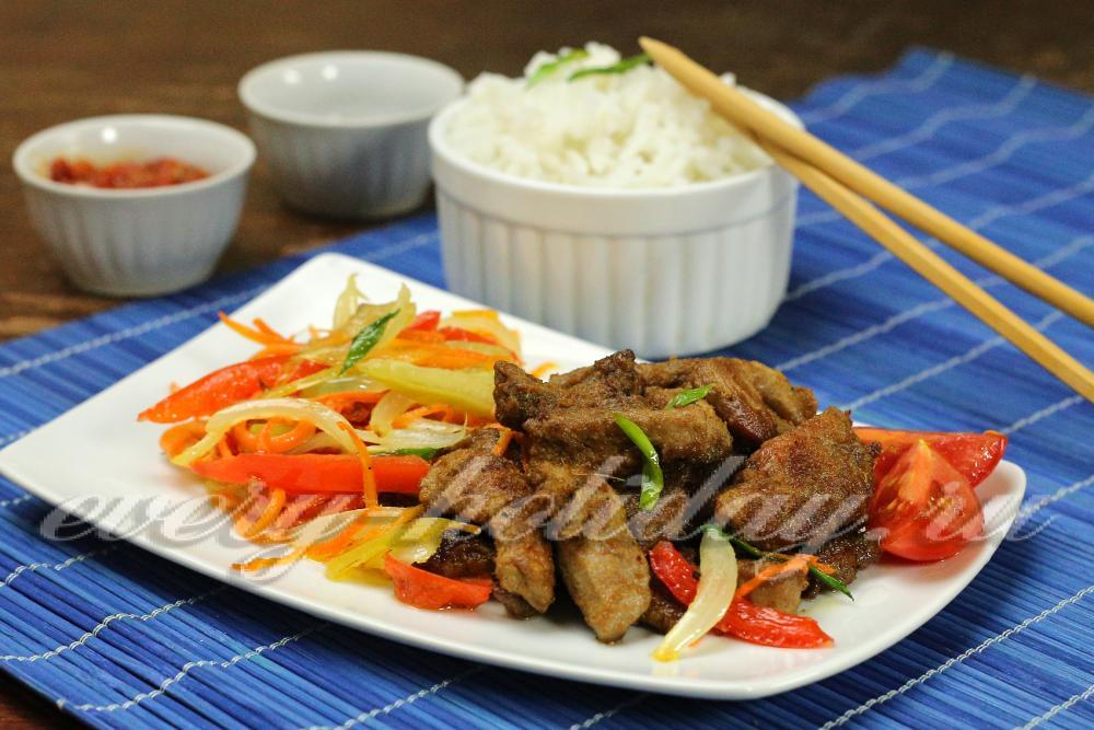 рецепт мясо по-тайски с овощами рецепт с фото