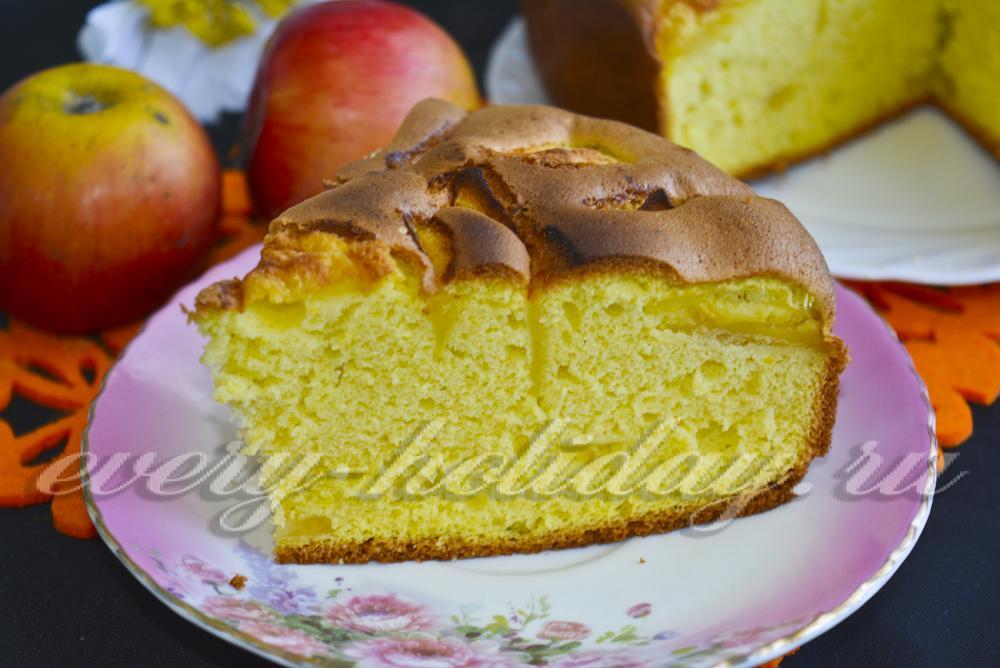 Лучшая шарлотка с яблоками рецепт с пошагово