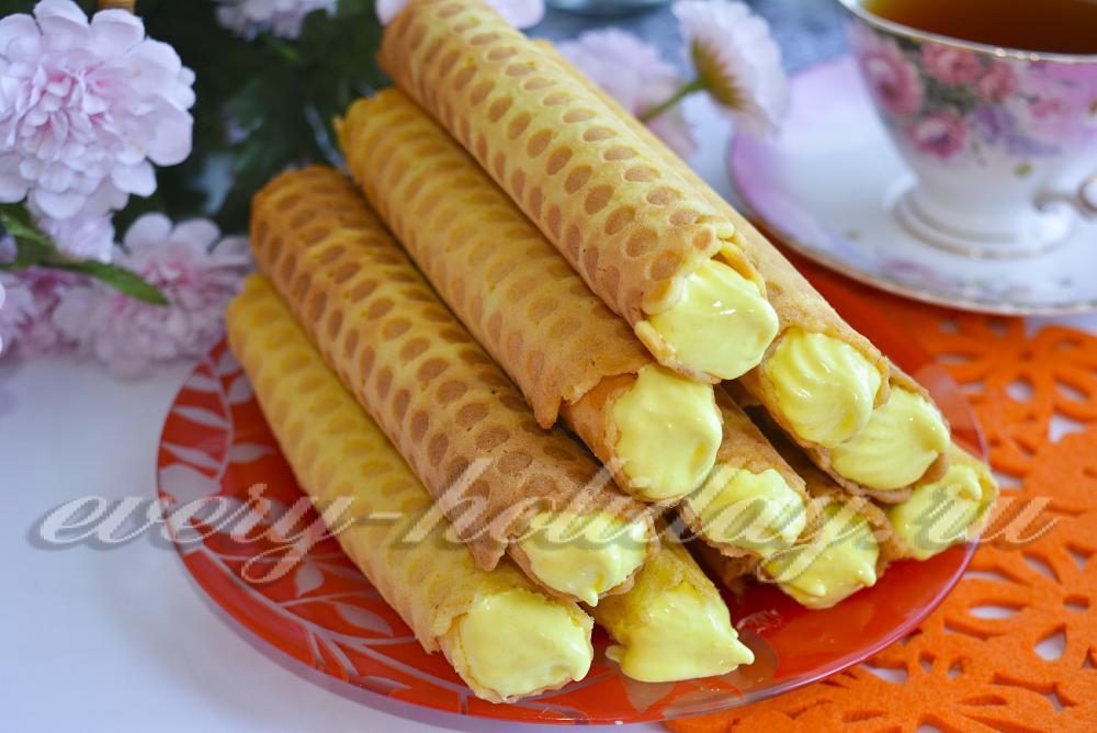 Вафельные трубочки в вафельнице рецепт хрустящие