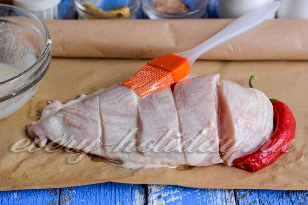 запеченная в духовке куриная грудка простой рецепт
