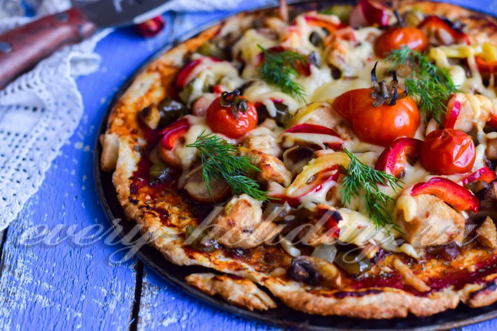 пицца на тонком дрожжевом тесте рецепт