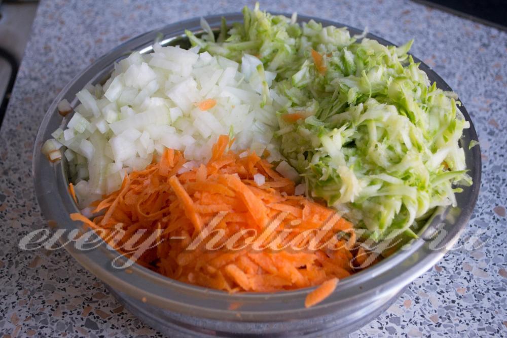 котлеты капустные с кабачками рецепт