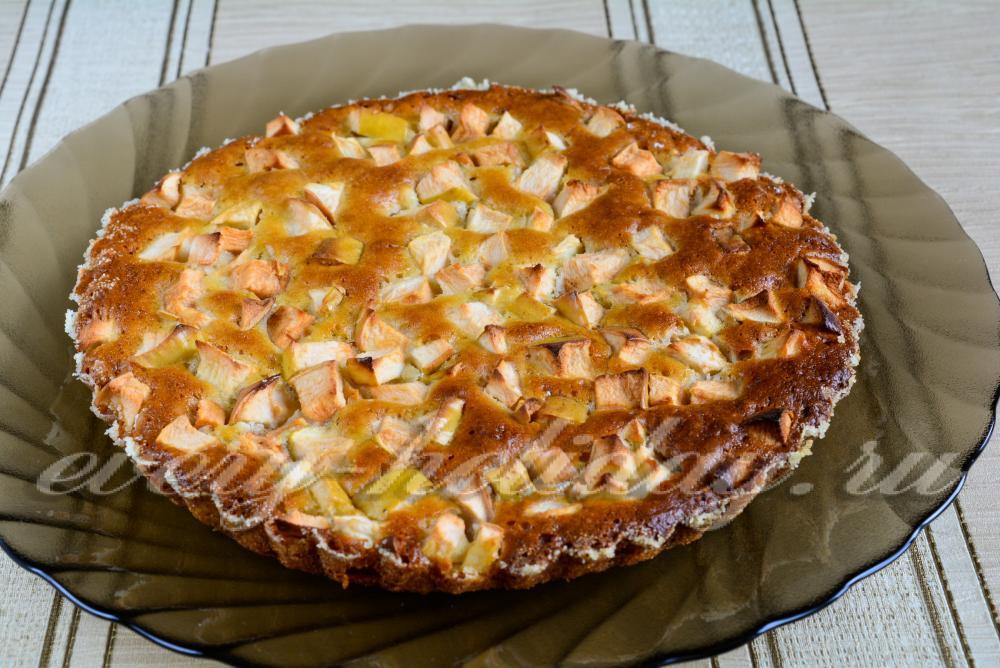 Пирог на маргарине с яблоками рецепт пошагово в духовке