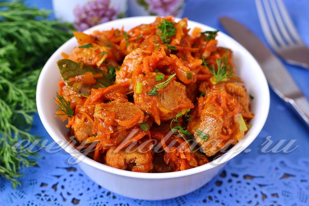 Блюда из соевого мяса рецепты с фото