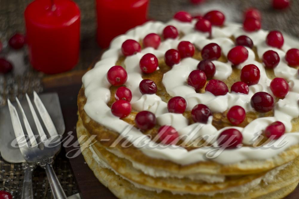 Блинный торт с сыром маскарпоне рецепт с пошагово