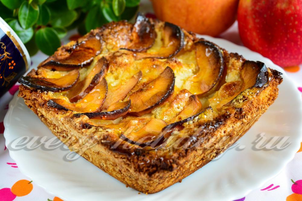 Пышный яблочный пирог рецепт с фото