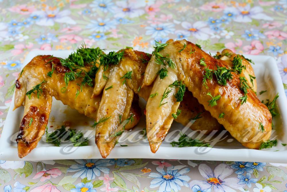 Рис с крылышками в духовке рецепт