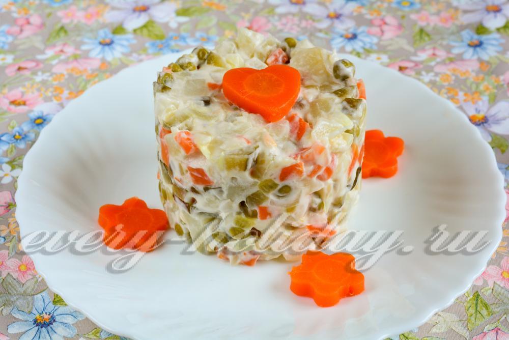 Салат из вареной рыбы рецепт с очень вкусный с