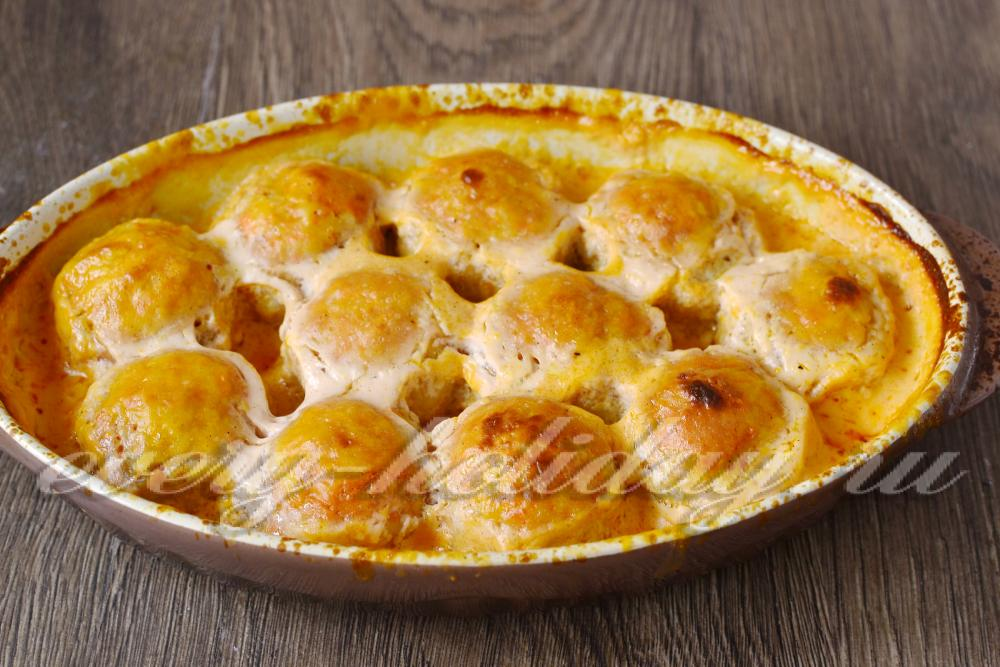 ленивые голубцы рецепт в духовке в сметанном соусе