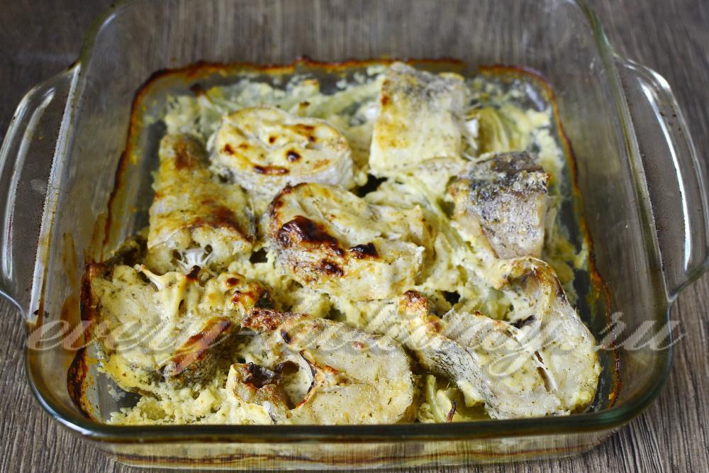 Треска в духовке с луком рецепты