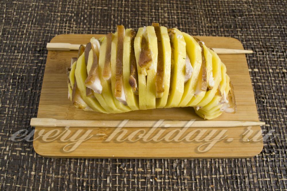 Картошка гармошка рецепт фото сыром
