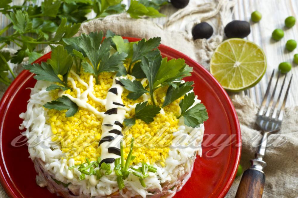 Как сделать салат берёзовая роща