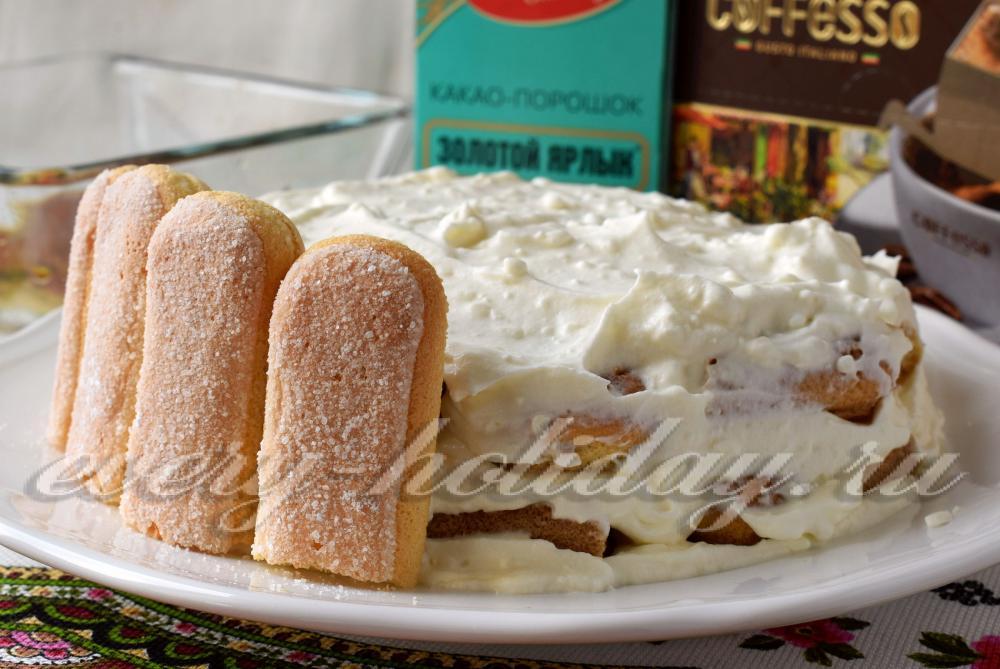 Рецепт торта тирамису с маскарпоне в домашних условиях 105