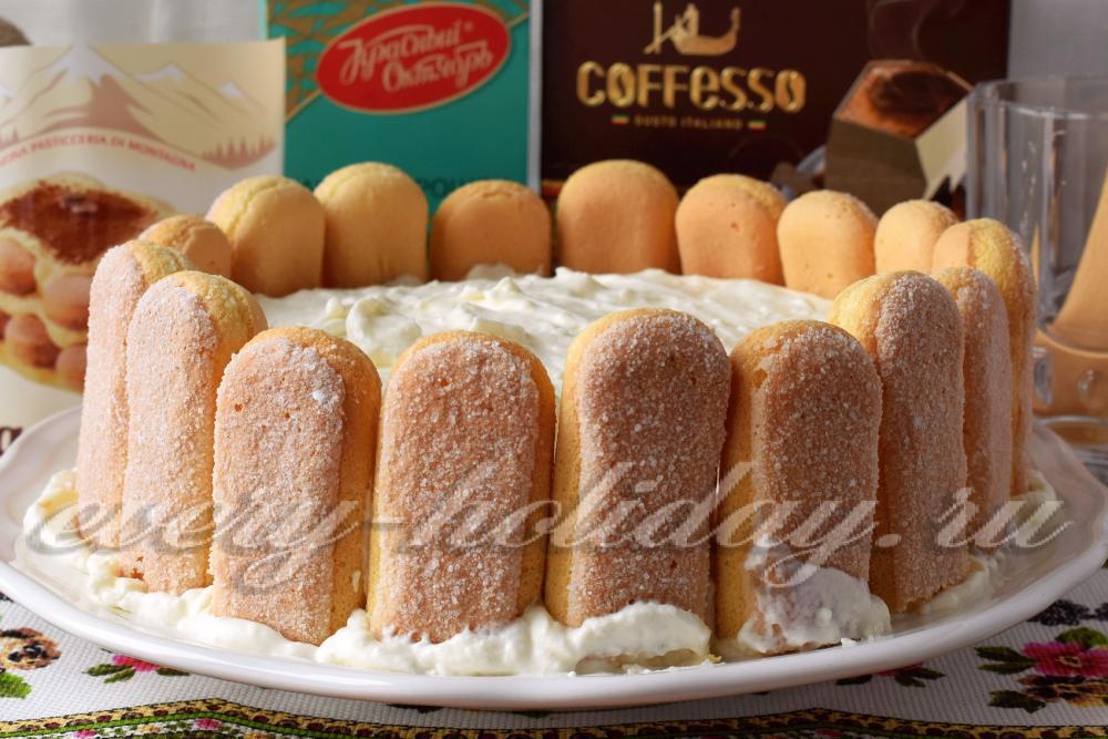 Торт тирамису с савоярди и маскарпоне