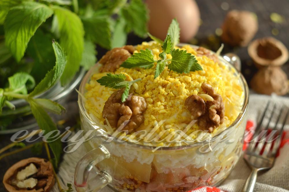 Куриный салат рецепт классический