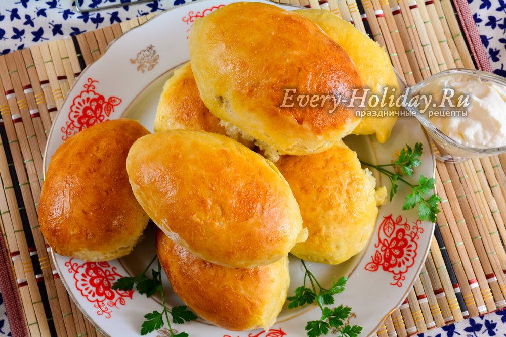 Печеные пирожки с печенью в духовке рецепт