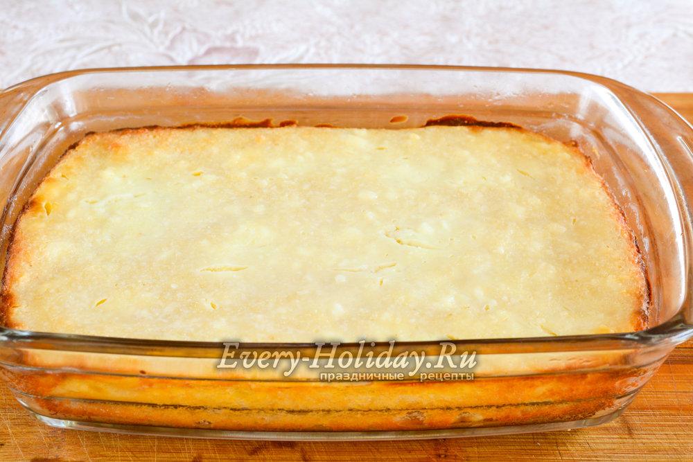 Рецепт творожной запеканки в духовке с манкой и изюмом рецепт