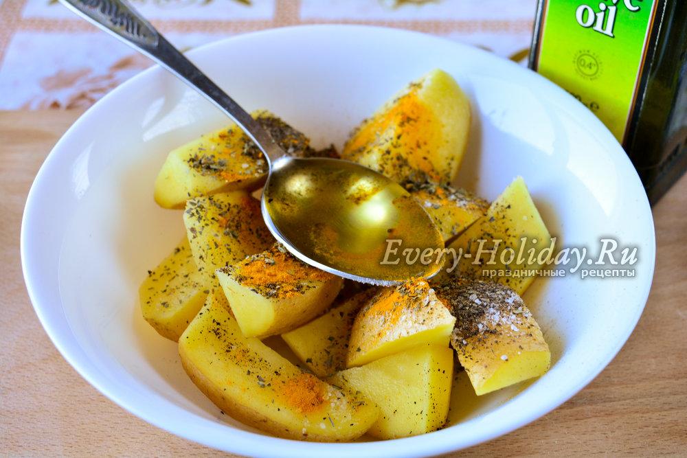 Картошка с золотистой корочкой в духовке рецепт 59