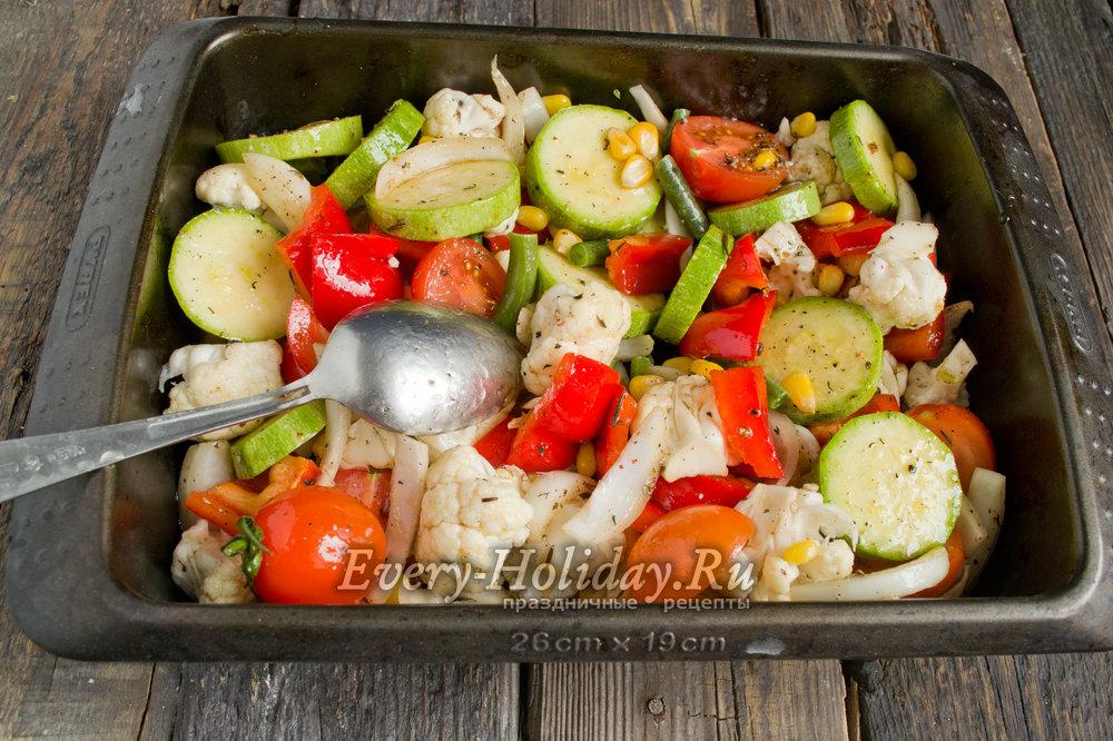 Овощное ассорти в духовке запеченные рецепты